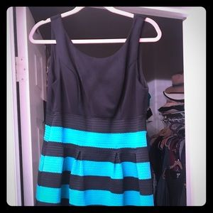 Black and Turquoise dress